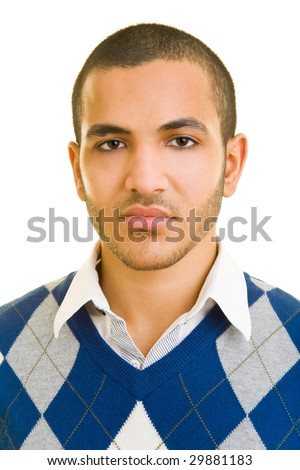 Portrait of a young moroccan - stock photo