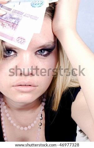 Portrait of a young pretty girl - stock photo