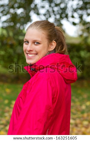 Portrait of a young sporty woman - stock photo