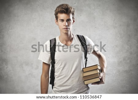 Portrait of a young student