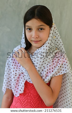 Portrait of a young teenage girl. - stock photo