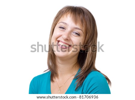 Portrait of a young woman's cheerful