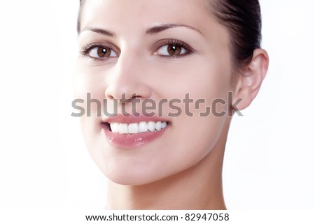 Portrait of a young woman with a nice smile