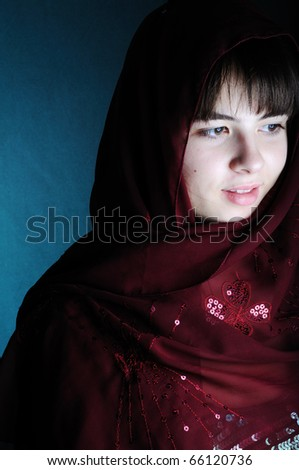 portrait of a young woman with veil