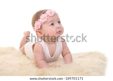 portrait of adorable baby