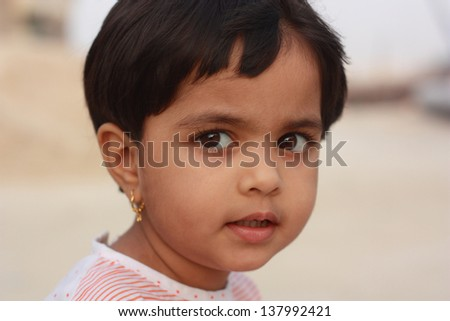 Portrait of adorable little Asian girl - stock photo
