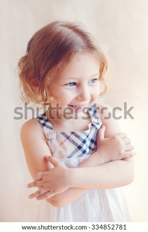 portrait of adorable little girl  - stock photo