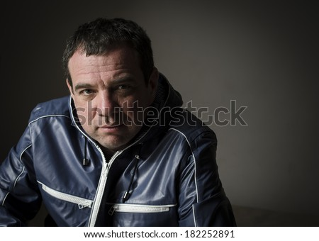 Portrait of adult smiling man. Real people series. - stock photo
