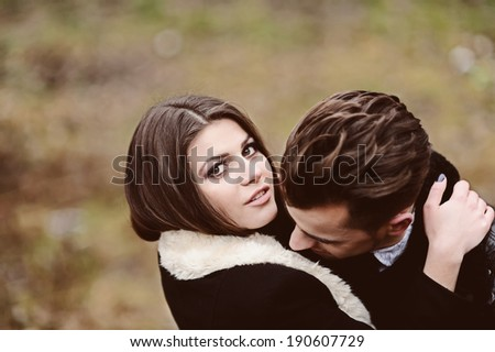 Portrait of affectionate couple in the park