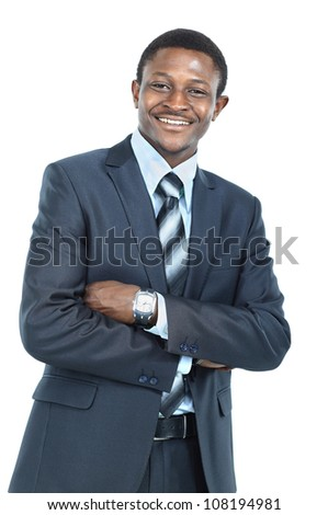 Portrait of African American businessman