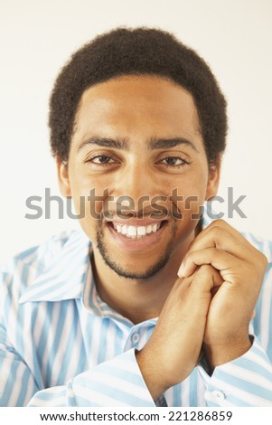 Portrait of African American man - stock photo