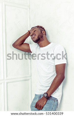 portrait of  african american man posing