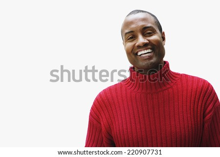 Portrait of African man wearing sweater - stock photo