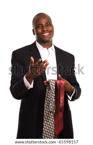 Portrait of an African American and tie - stock photo