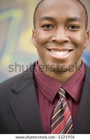 Portrait of an African American businessman.