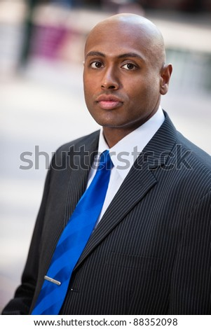 Portrait of an African American businessman - stock photo