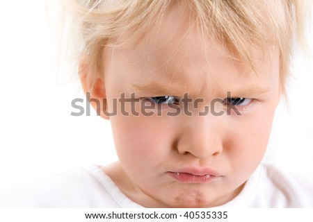 Funny Little Child Blond Girl Bubble Stock Photo 565287058 ...