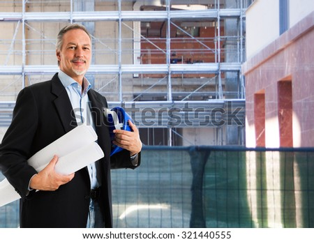 Portrait of an architect at work - stock photo