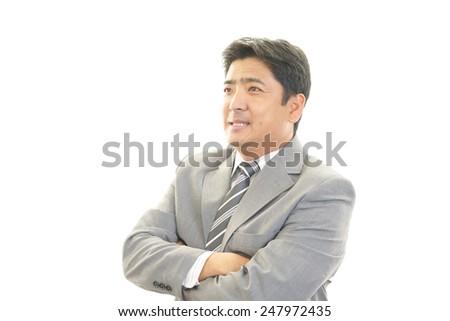 Portrait of an Asian businessman - stock photo