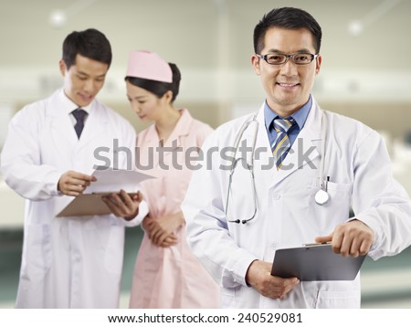 portrait of an asian medical team. - stock photo