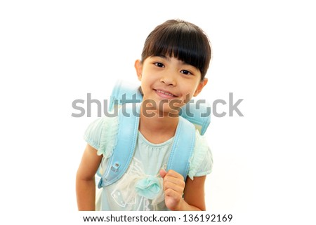Portrait of an Asian schoolgirl