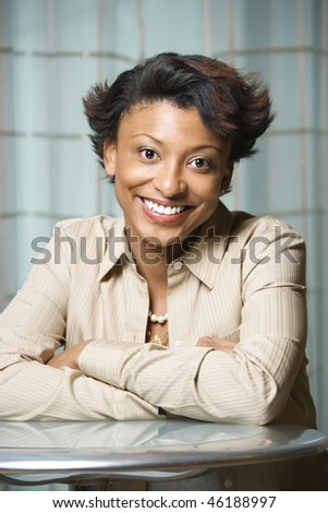stock-photo-portrait-of-an-attractive-african-american-young-woman-she ...