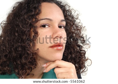 Portrait of an attractive businesswoman in thought