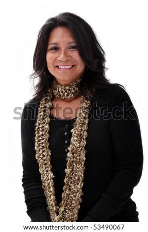 portrait of an attractive latin american women - stock photo