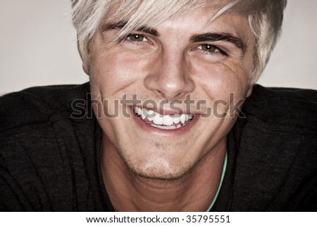 Portrait of an attractive young adult man