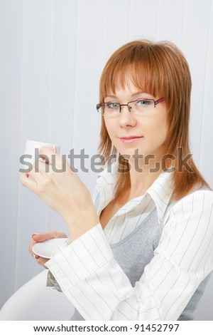 Portrait of an attractive young business woman in office