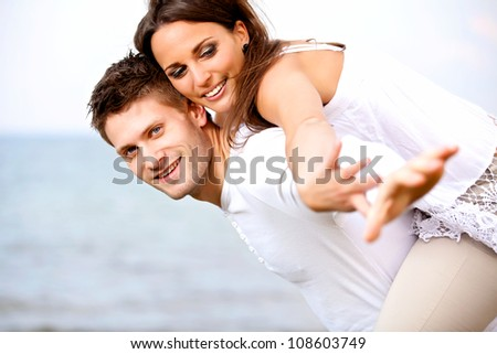 Portrait of an attractive young couple enjoying their summer vacation