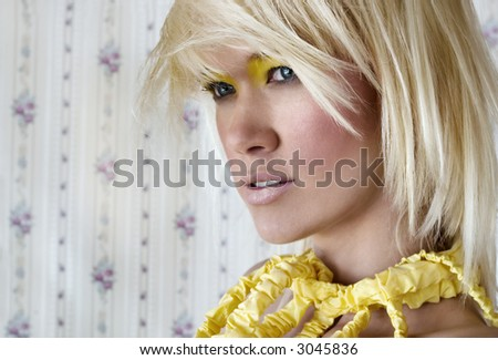 Portrait of an attractive young woman - stock photo