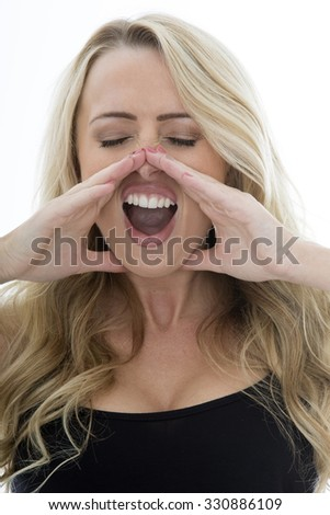 Young Caucasian Woman Bed Headache Depression Stock Photo ...