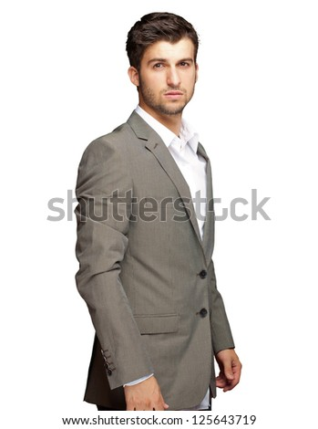 Portrait Of An Businessman Isolated On White Background - stock photo
