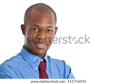 Portrait of an handsome black businessman - stock photo