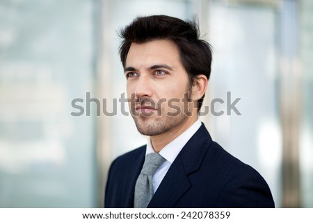 Portrait of an handsome business man