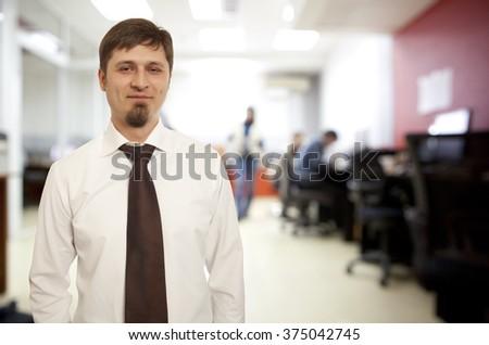 Portrait of an handsome businessman - stock photo