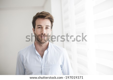 Portrait of an handsome man - stock photo