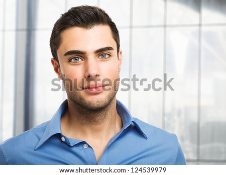 Portrait of an handsome young man - stock photo