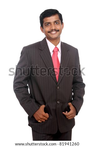 Portrait of an Indian business man - stock photo