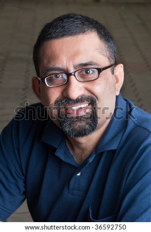 Portrait of an Indian man - stock photo