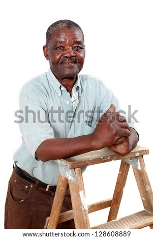 Portrait of an old african man