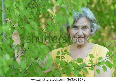 Portrait of an older woman on walk