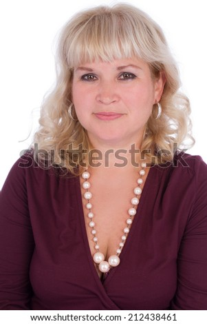 Portrait of an ordinary woman - stock photo