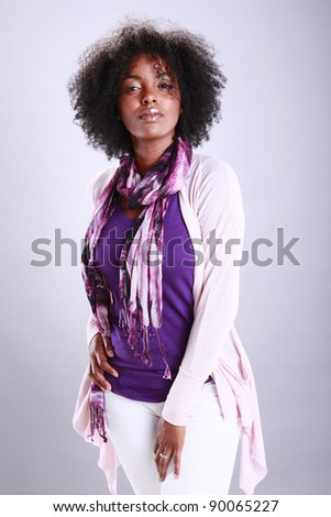 Portrait of an urban African American - stock photo