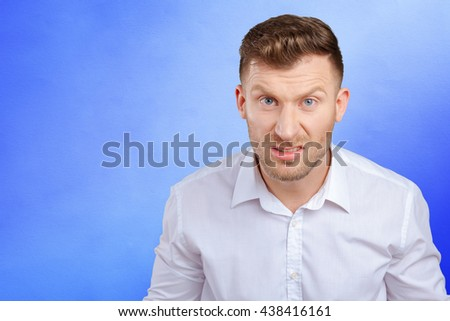 Portrait Of Angry Young Man