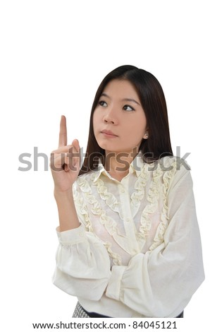 Portrait of Asian Business woman on white background - stock photo