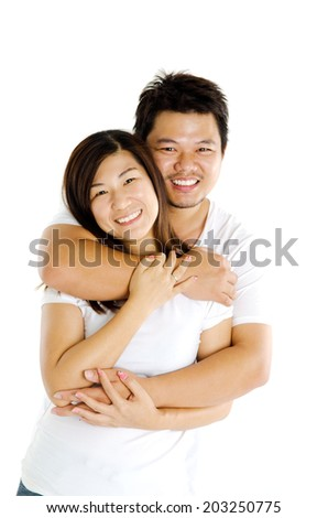 Portrait of asian loving couple