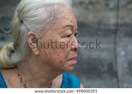 Portrait of Asian senior woman.