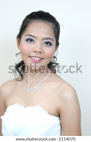 Portrait of asian woman. - stock photo